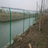 振鼎 铁丝焊接热镀锌河道围栏网 浸塑墨绿双边丝隔离栅