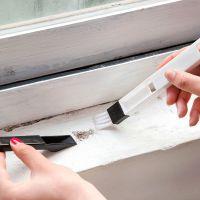 1091 多用途厨卫门窗凹槽 清洁刷带簸箕缝隙刷 键盘刷角落除尘刷T
