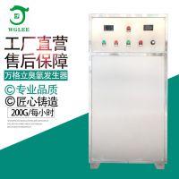 200g蜂窝式水冷空气源臭氧发生器消毒设备污水处理脱色漂白降COD