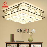 古典中式客厅吸顶灯中国风图画长方形餐厅卧室灯餐馆茶室工程灯具