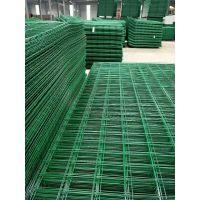 专业生产高速公路镀锌丝双边丝框架护栏网 绿色浸塑圈地围栏网 养殖护栏网
