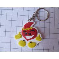 橡胶微量射出钥匙扣礼品,卡通吉祥物吊饰礼品