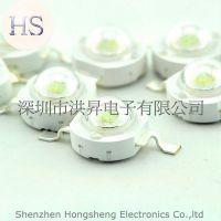3W 绿灯 绿光灯珠 白色大功率LED 散光LED 150-160LM