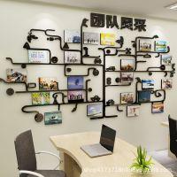 公司员工风采文化墙3d立体墙贴团队照片墙贴纸励志标语办公室装饰