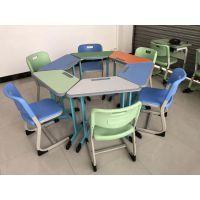 辅导班用的桌子桌椅-一对一培训桌补习班桌子-培训班课桌椅