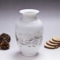 景德镇陶瓷器博古花瓶客厅玄关酒柜小号架摆件工艺品插花装饰品