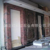 幻彩红花岗岩石材门套建筑装饰材料