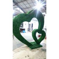 街道景观立体垂直仿真绿雕造型 植物雕塑造型定制
