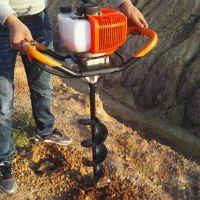 汽油便携式植树挖坑机 小型地钻打孔机 圣鲁机械