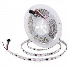LED幻彩灯带 可编程灯条 流水跑马呼吸效果软灯带 外置5050IC2811