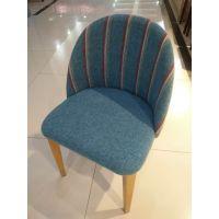 君康传奇现代简约休闲餐椅 软包单人椅子酒店餐厅椅 咖啡厅桌椅