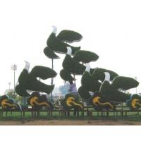 成都绿雕制作 动物造型 绿雕价格 定制水井口的绿雕造型