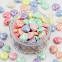 小桃心diy儿童串珠材料 糖果珠散珠亚克力益智开发用具珠子直孔