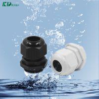 批发PG7塑料型防水接头IP68格兰锁紧头尼龙PA66塑料电缆接头防水
