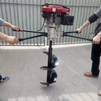 春种树苗用汽油挖坑机 种杨树苗用的小直径钻眼机 科博机械