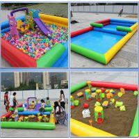 充气游泳池充气钓鱼池沙池 套装充气海洋池游乐玩具 环保材料儿童充气沙池