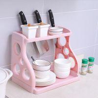 多层置物架调料家用架落地厨房免打孔多功能收纳架塑料刀架储物架