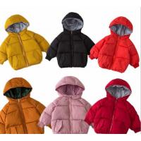 广东儿童冬装 新款保暖外套 2018韩版男女童卡通英文棉衣 毛领棉服 潮
