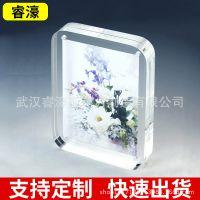 厂家供应 创意6寸亚克力强磁相框 亚克力透明相框 有机玻璃相框