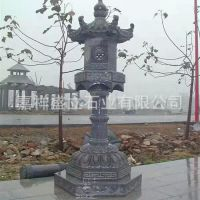 供应仿古做旧石雕灯笼 园林庭院石灯 中式日式落地灯