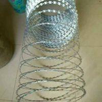 海纳川不锈钢刺丝滚笼又称蛇腹形刀刺网