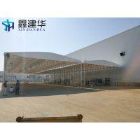 杭州下城区专业定做抗风挡雨棚布_伸缩式移动储物雨棚布 大型临时仓库篷可设计方案