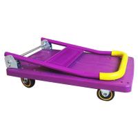 塑料板手推车折叠静音仓库平板拖车小推车拉货搬运车搬家送货车