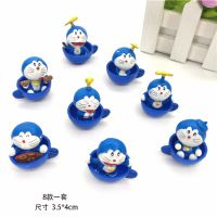手办动漫哆啦a梦叮当猫机器猫蓝胖子创意生日礼物公仔玩具8款一套