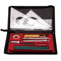 15件套装绘图仪 学生实用绘图仪 绘图工具套装 制图工具 绘图包