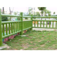 梅州平远蕉岭河道鱼塘景区栈道仿竹栏杆效果水泥仿石护栏树皮围栏
