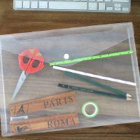 A4塑料文件袋透明档案袋按扣资料袋学生试卷袋办公用品