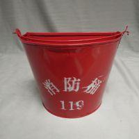 江西南昌青云谱区厂家促销简易式半圆消防沙桶 119字样沙桶 消防沙箱 应急铁桶