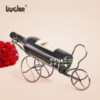 红酒摆件复古三轮车铁艺葡萄酒展示架金属古琴土豪金
