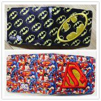 漫画漫威钱包钢铁侠死侍刺绣款超人蝙蝠侠Q版影视周边皮夹