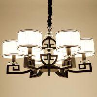 新中式吊灯客厅中国风简约卧室灯书房餐厅灯具中式灯3头