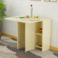 家用折叠桌多功能折迭吃饭桌子饭桌圆桌收缩小圆形可简易折迭餐桌