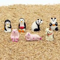 新品 zakka杂货日本DECOLE 熊猫企鹅猪 微景观场景摆件 隔板摆件