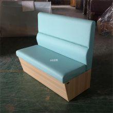 益阳板式奶茶店卡座沙发,木纹简约卡座系列