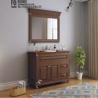 锐镁厂家定制浴室柜铝型材 全铝家具仿木纹铝合金家具厂家直销