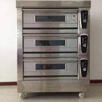 三层六盘电脑控制面板烤箱 智能定时远红外线加热食品烘炉 面包月饼烤炉