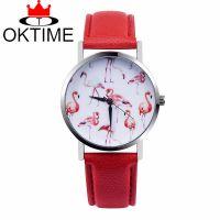OKTIME 外贸热销款式 天鹅字面皮带手表 休闲时尚石英表女表