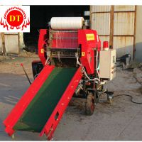 德泰场地式的玉米秸秆打捆机可移动的青贮打包机操作方便更省力