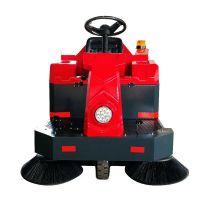 迈极工业园道路环卫驾驶式扫地机|园区树叶垃圾清扫机