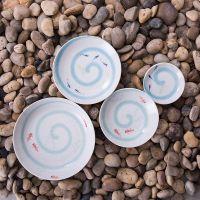 日本进口雪花釉陶瓷盘子日式餐厅陶瓷餐具餐盘
