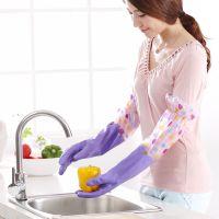 厨房耐用加厚乳胶清洁家务手套 加绒洗碗洗衣服橡胶防水胶皮手套
