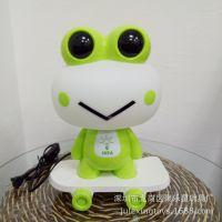 卡通儿童节礼品滑板青蛙台灯 可爱豆蛙喂奶灯卧室床头小夜灯礼品