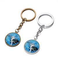 速卖通热销生命树时光宝石钥匙扣挂件DIY合金钥匙扣汽车挂件批发