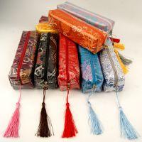中式复古丝绸防水笔袋文具包收纳袋中国风开学送同学老师小礼物