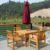 户外实木桌椅套装室外阳台咖啡厅实木家具组合庭院花园防腐木桌椅