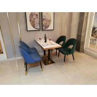 【图片】粤时尚家具 深圳主题西餐厅轻奢桌子椅子搭配 简约披萨店餐桌椅一整套
